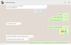 Alkhamdulillah Container Sudah Tiba Di Semarang 0822 2221 7966