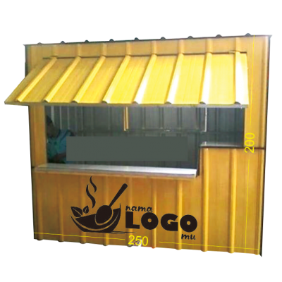 booth container P250 x L200 x T200