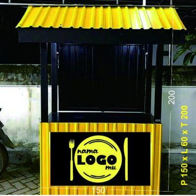desain gerobak kontainer