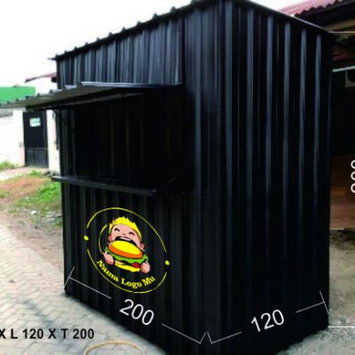 booth container knock down