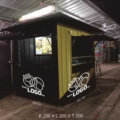 gerobak booth container