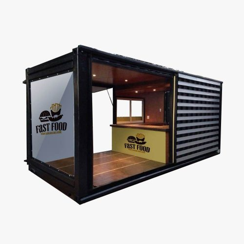 jual booth semi container